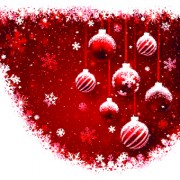 Free Red Christmas elements background vector set 05