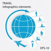 Travel with earth infographics elements 02 free