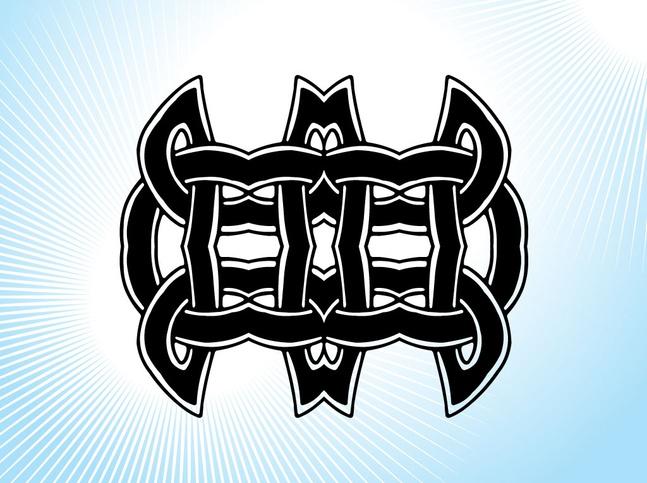 Celtic Knot Tribal Design vector free