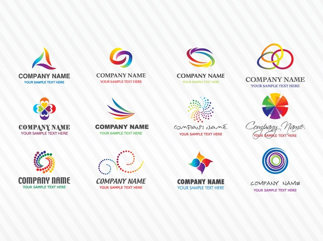 Colorful Stock Vector Logos free
