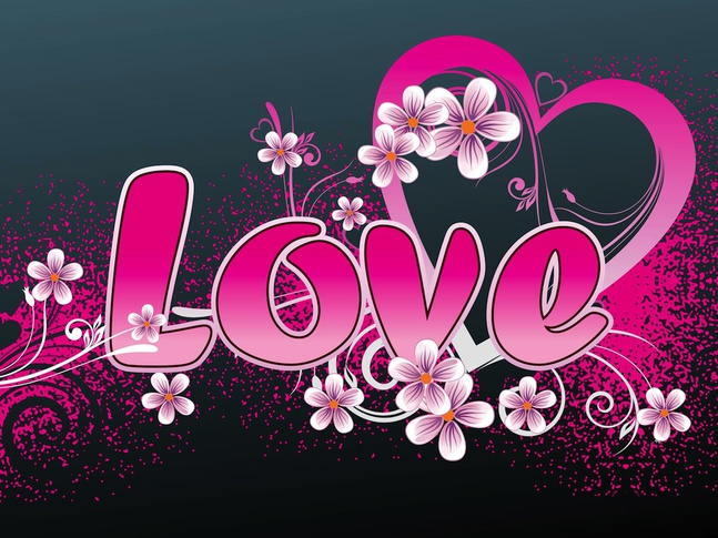 Floral Love vector free
