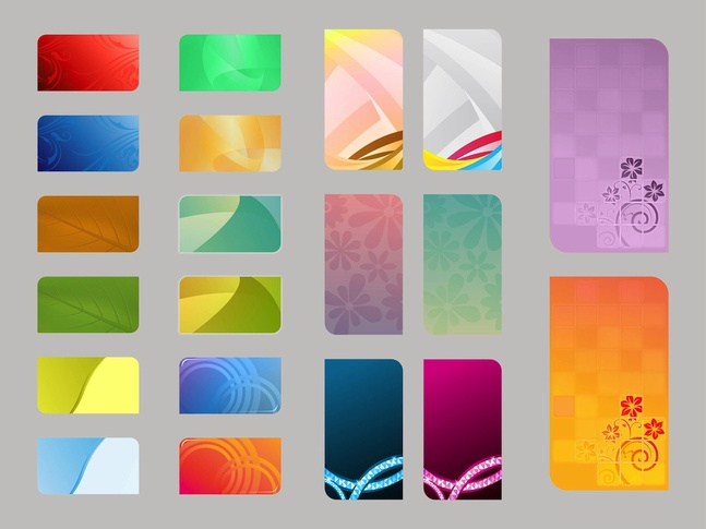 Colorful Card Templates vector free