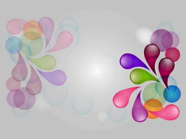 Colorful Drops vector free