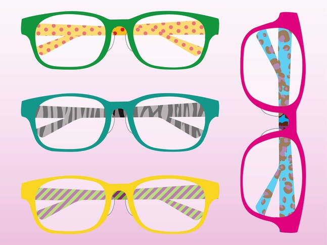 Colorful Glasses vector free