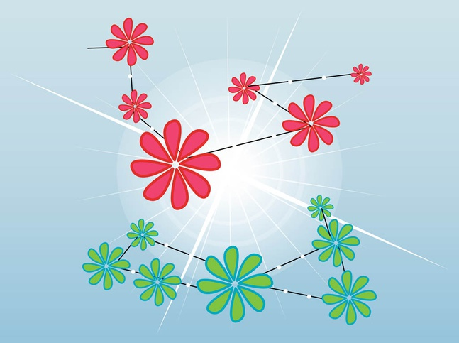 Flower Branches vector free