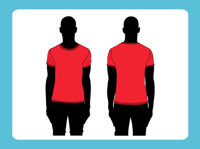 Vector T-Shirt Template free