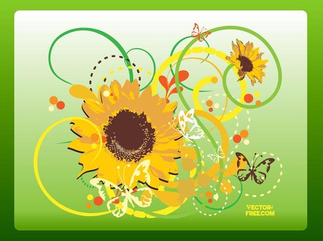 Beautiful Flower Vector free