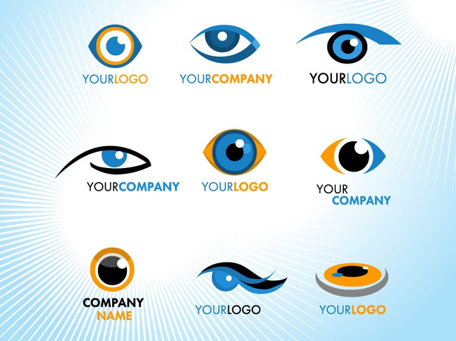 Eye Logos vector free