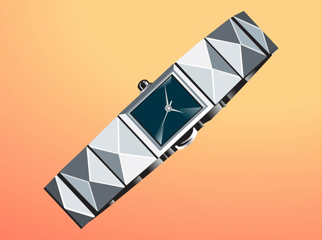 Metal Watch vector free