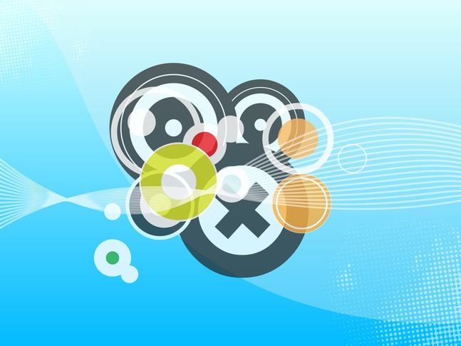 Circles Footage vector free