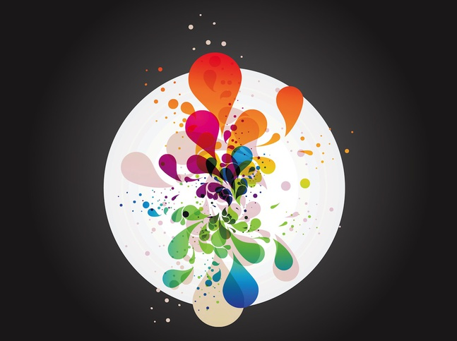 Colorful Vector Drops free