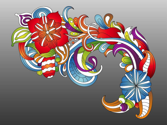 Fresh Colorful Flowers vector free