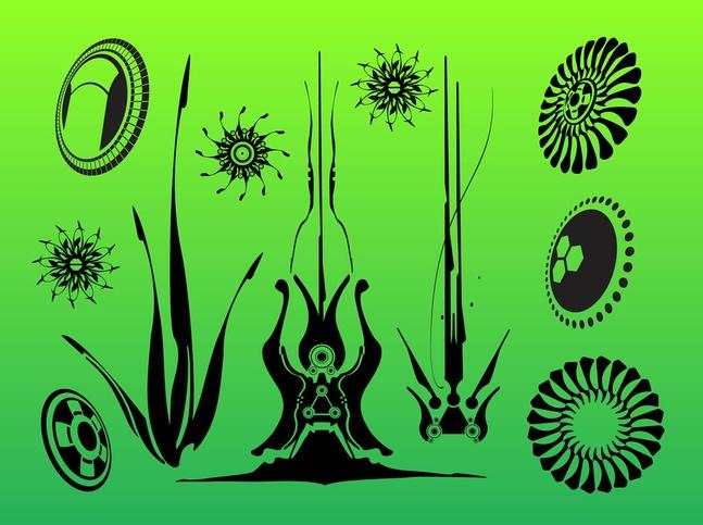Organic Graphics vector free