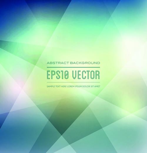 Blurred geometric shapes background art vector 02 free