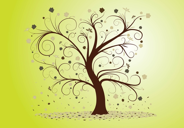 Curly Tree vector free