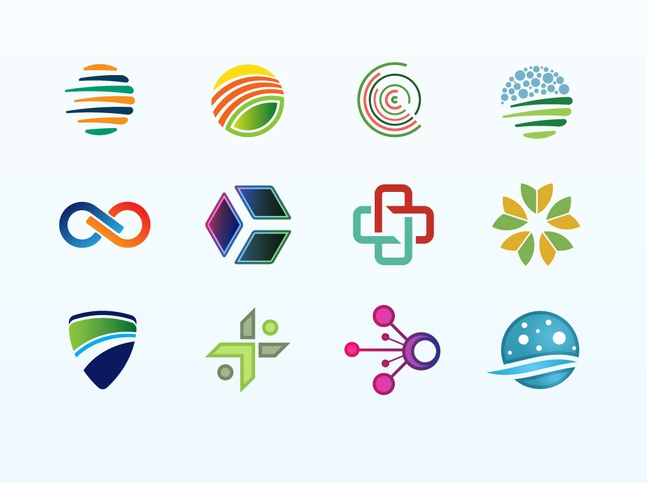 Logo Element Mix vector free