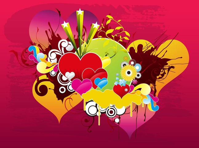 Love Vector Background free