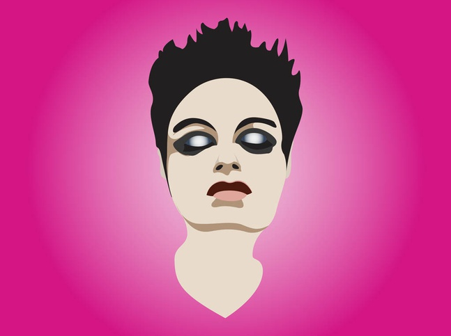 Make-Up Girl Portrait vector free