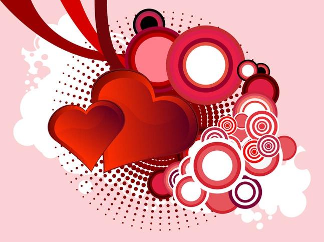 Vector Valentine Hearts free
