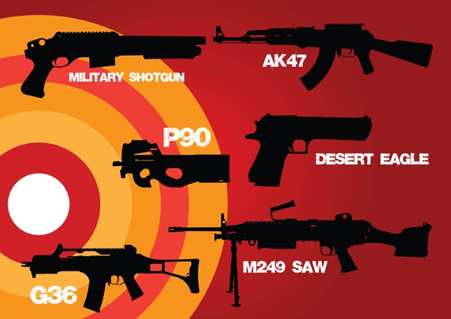 Weapons of War vector free