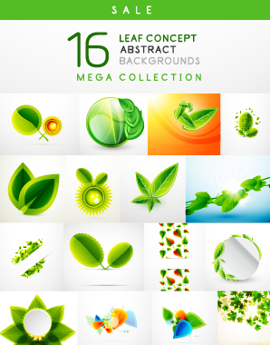 Abstract leaf concept background vector 01 free