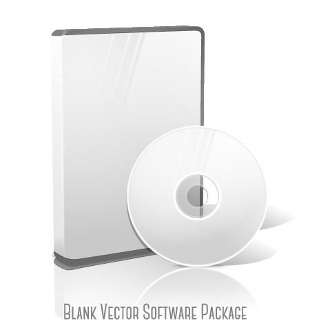 Blank CD package box vector template 02 free