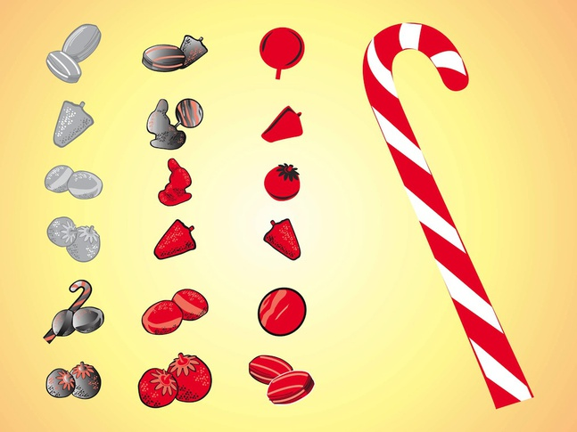 Candy Icons vector free