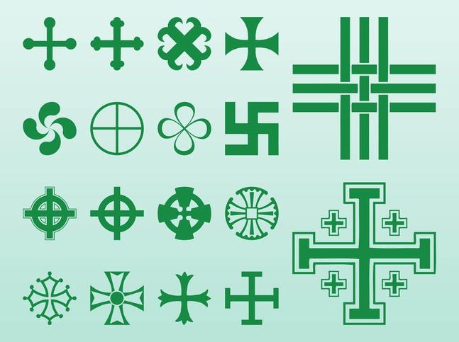 Crosses And Symbols vector free