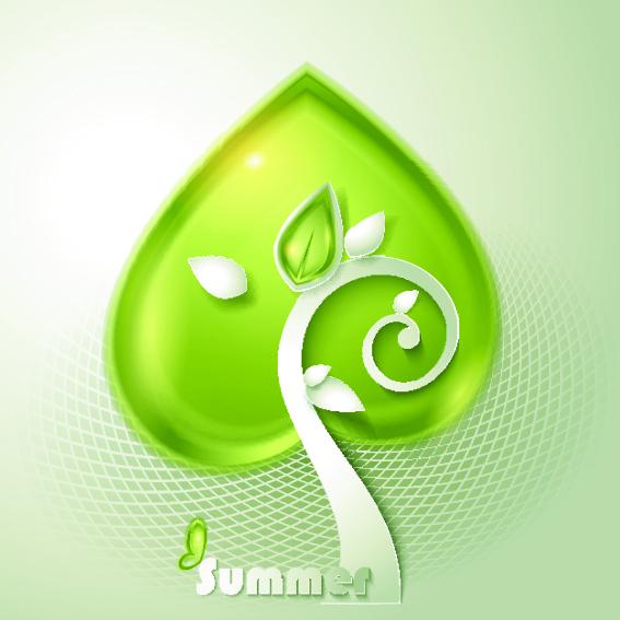 Green season style vector background 02 free