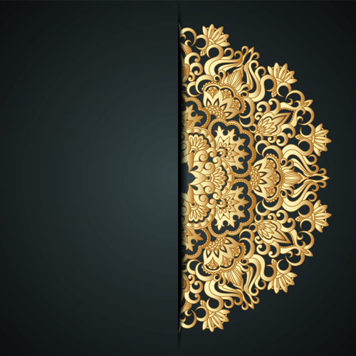 Lace decorative pattern vector background 01 free