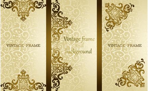 Luxury vintage frame vector background free