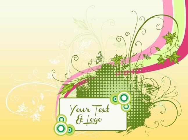 Nature Invitation Template vector free