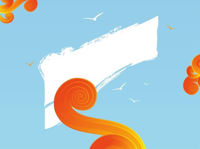 Summer Design Elements Graphics vector free