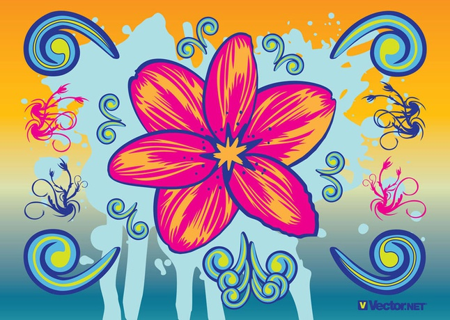 Beautiful Flowers vector free