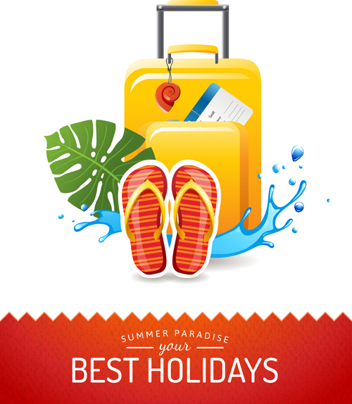 Best holidays poster creative vector 01 free