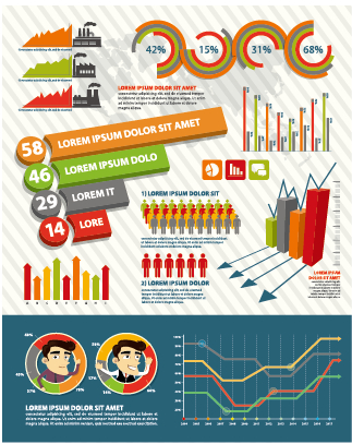 Business Infographic creative design 1286 free