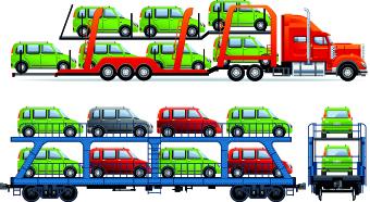 Car transporter creative vector free