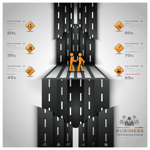 City street traffic Infographic elements vector 05 free