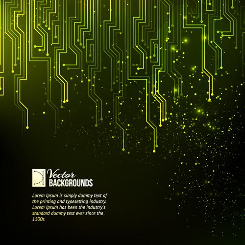 Creative circuit board concept background vector 06 free