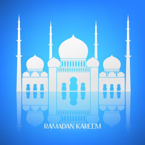 Creative Islamic mosque vector background 05 free