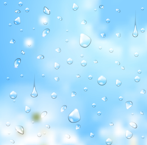 Crystal water drops with blurred background art 04 free
