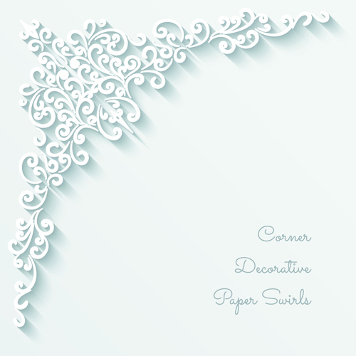 Exquisite paper floral vector background art 01 free
