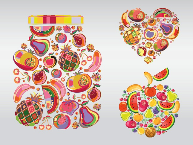 Fruit Illustrations vector free
