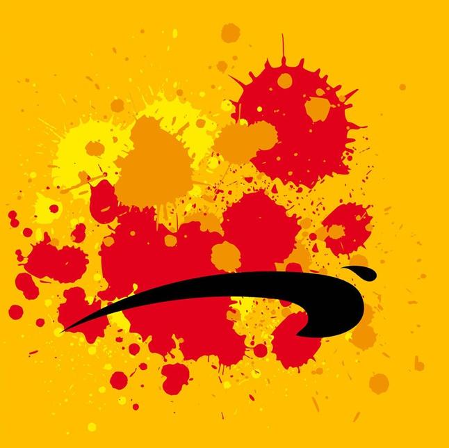 Grunge Paint Splatters vector free