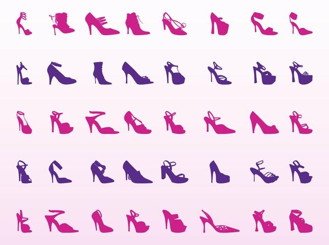 High Heel Shoes Set vector free