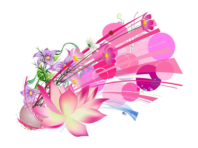 Pink Flowers Image vector free