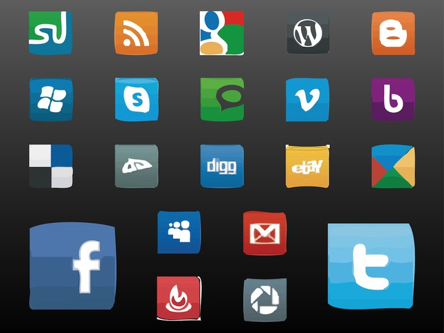 Social Icons vector free