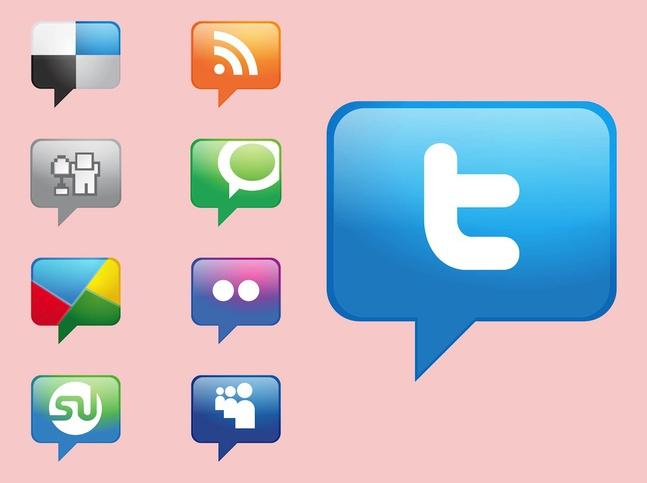 Social Media Icons Vectors free