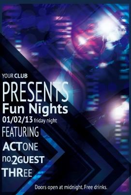 Vintage club flyer cover creative vector 04 free