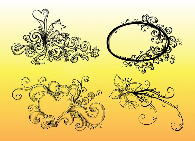 Hand Drawn Vector Graphics free